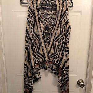 Aztec Print Sweater Vest L/XL
